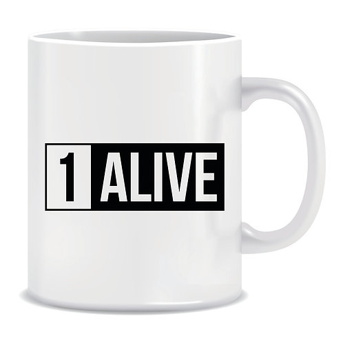 1 alive printed pubg playersunknows battleground gaming mug