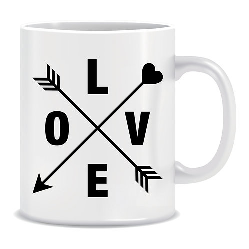 Love Arrows, Romantic, Printed Mug