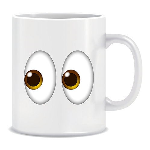 Eyes Emoji Printed Mug