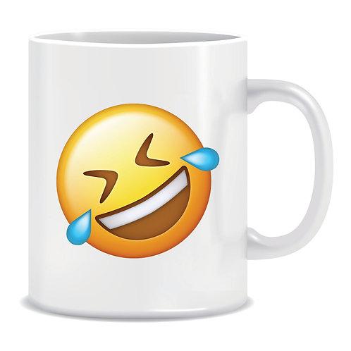 rofl roll on floor laughing emoji printed mug