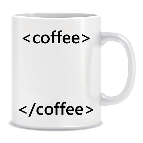 Funny Printed Mug Coffee HTML Tag