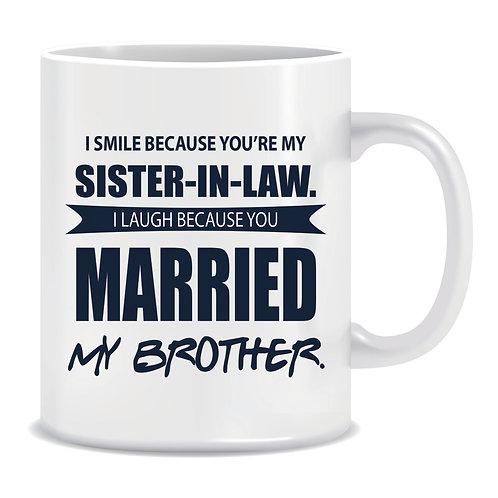 sister-in-law printed family mug