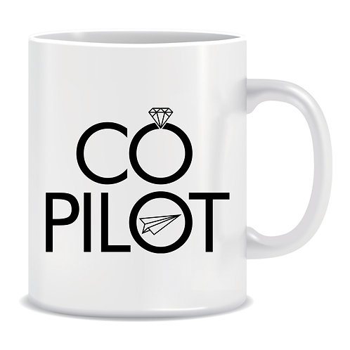 Co-Pilot, Printed Mug