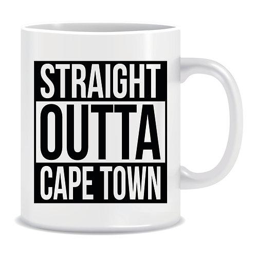 Funny Printed Mug Straight Outta Cape Town