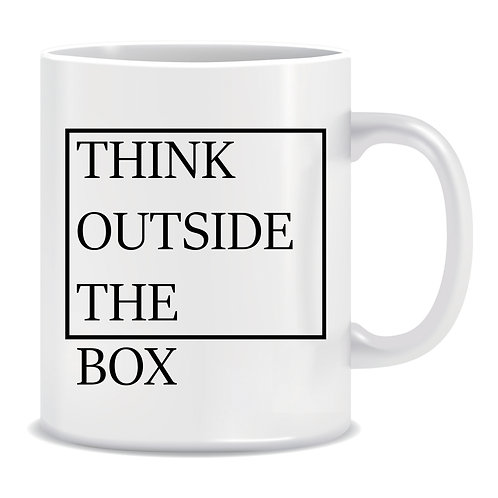 Think Outside The Box, Printed Mug