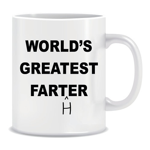 Printed Mug Worlds Greatest Farter Father