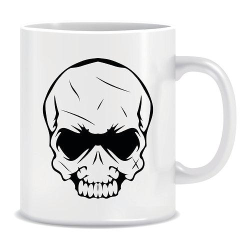 printed skull mug