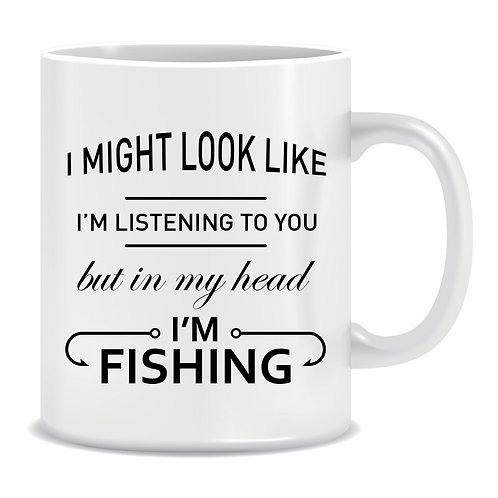 funny printed mug gift for fisherman