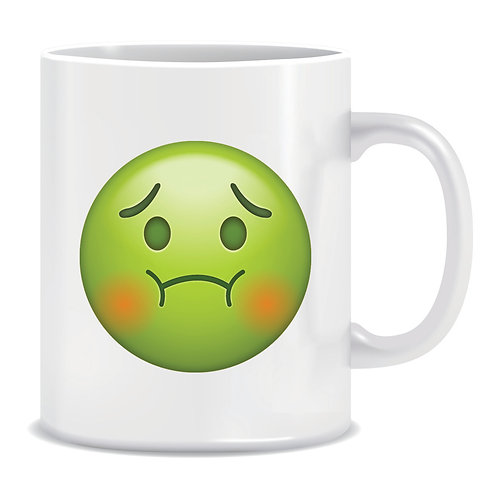 poisoned emoji face printed mug