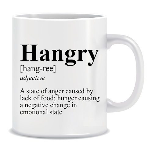 Definition of Hangry, Hungry, Angry, Printed Mug