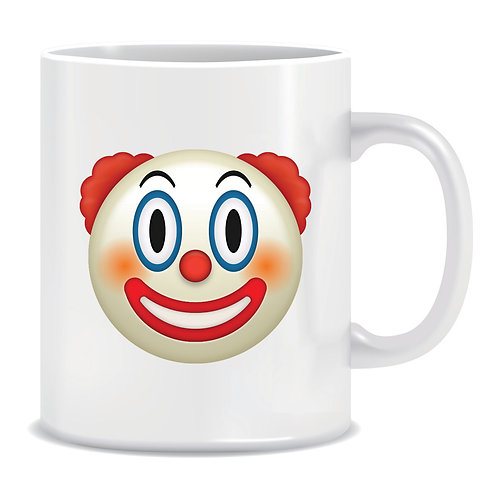 clown face emoji printed mug
