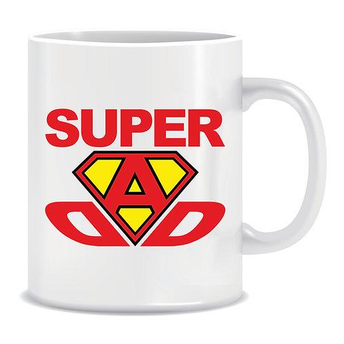 super dad printed fathers day mug