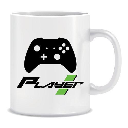 Player 1, Gaming, Printed Mug