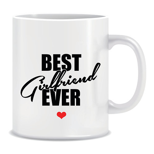 printed couple mug best girlfriend ever