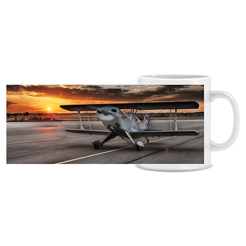 Printed Aviation Mug Pitts Plane Photo