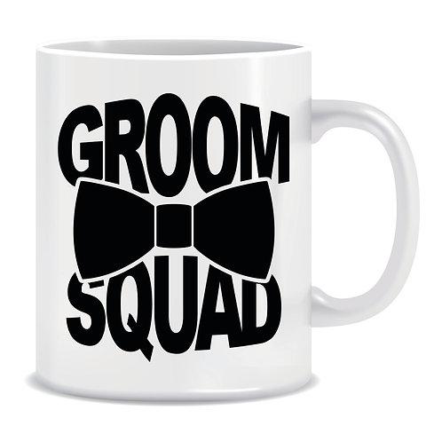 groom squad printed mug