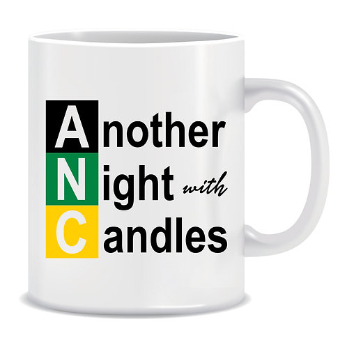 Another Night with Candles, Load Shedding, Government, Political, South Africa, ANC, African National Congress, Printed Mug