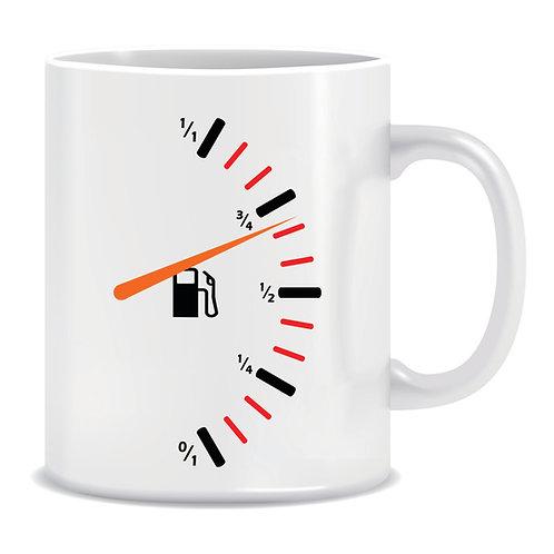 Printed Mug Fuel Gauge