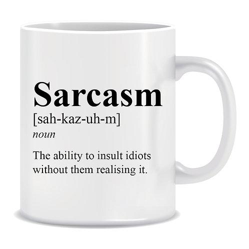 Definition of Sarcasm, Printed Mug
