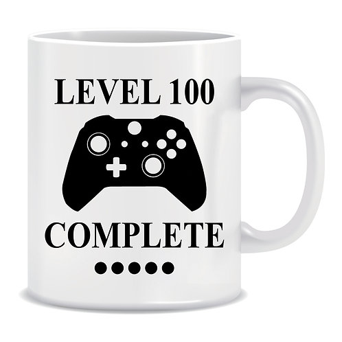 Level 100 Complete, Gaming, Remote, Controller, Printed Mug, Xbox