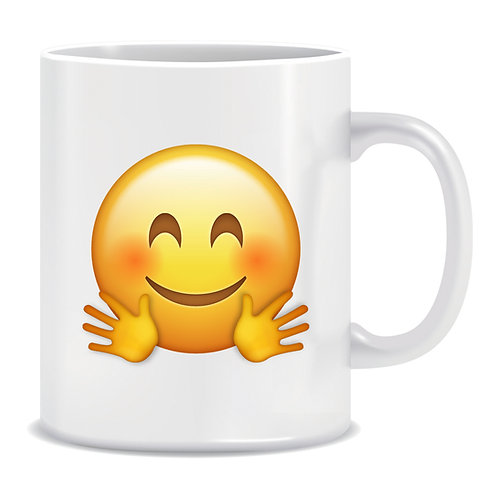 Hug Emoji Printed Mug