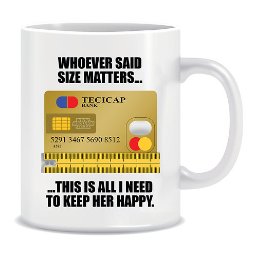 funny meme mug whoever said size matters