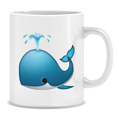 Whale Emoji Printed Mug