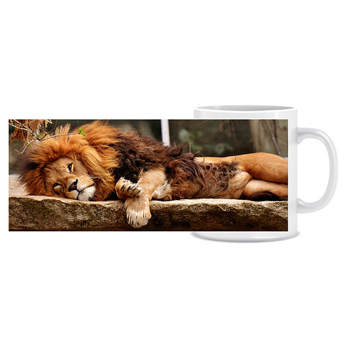 lion photo wraparound mug gift