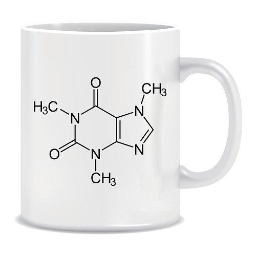 Funny Printed Mug Coffee Molecule