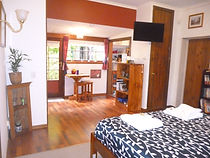 Double bedroom and semi s/c kitchenette in The Warren.