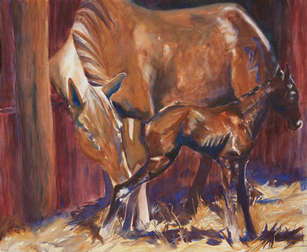 Born in a Barn (watercolor) 16X19_5 (M).