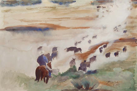 Cattle Over Moses Coulee