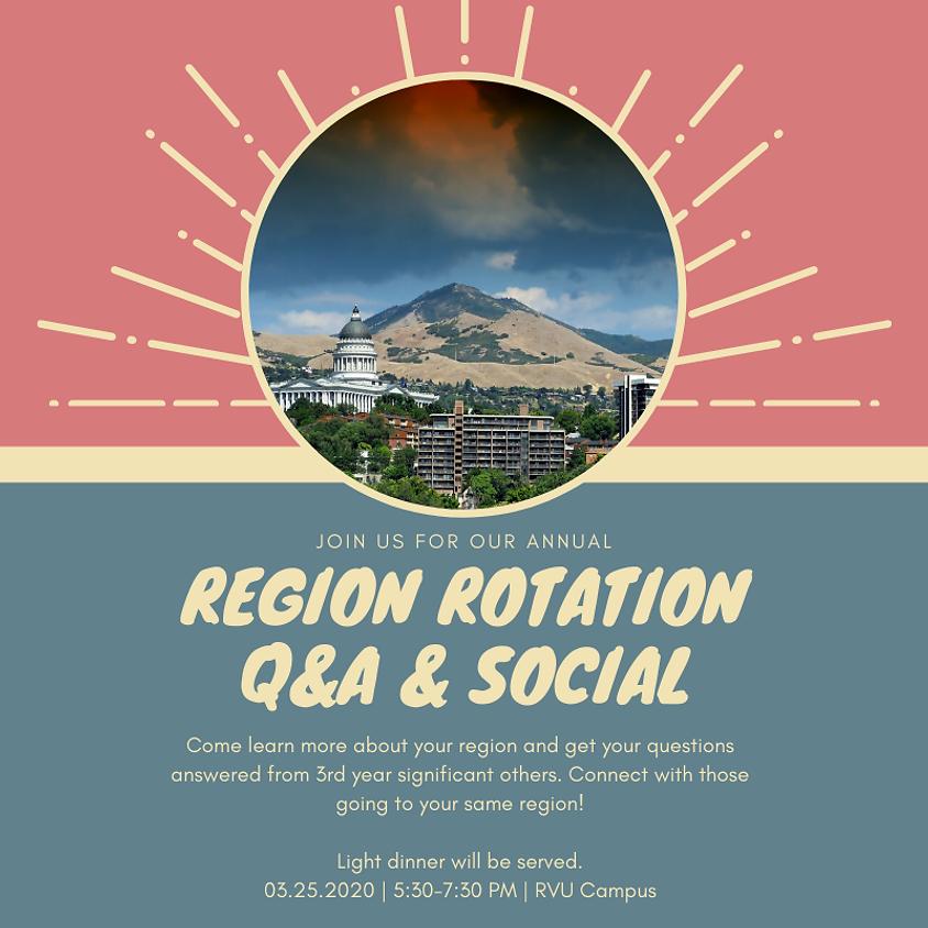 MSP Annual Region Rotation Q&A & Social