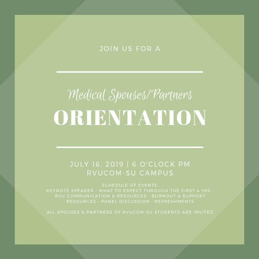 Medical Spouses/Partners Orientation
