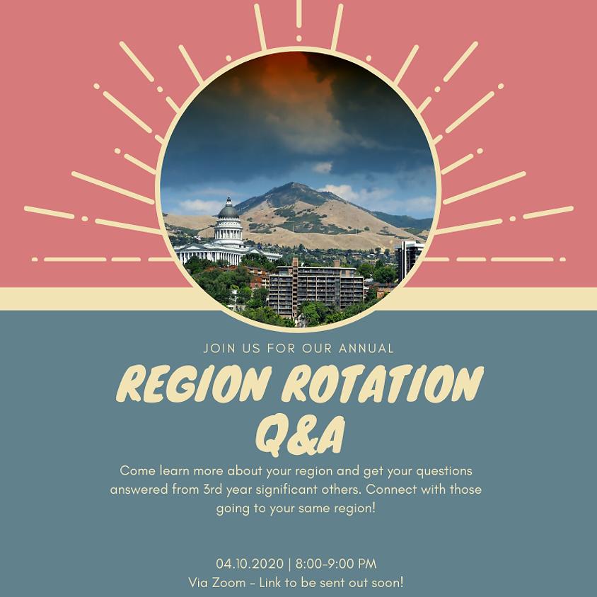 MSP Annual Region Rotation Q&A