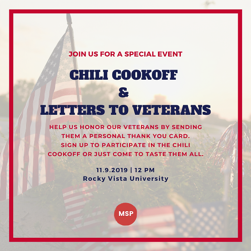 Chili Cookoff & Letters to Veterans
