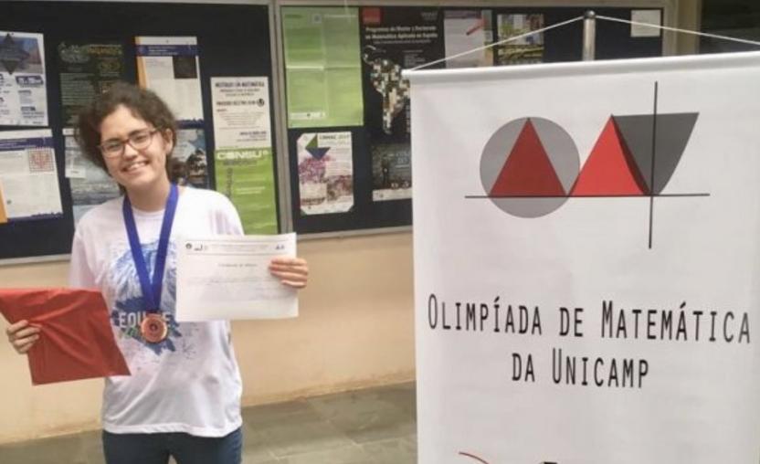 Aluna é medalha de bronze na Olimpíada de Matemática da Unicamp!