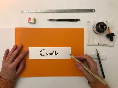 cours visio calligraphie