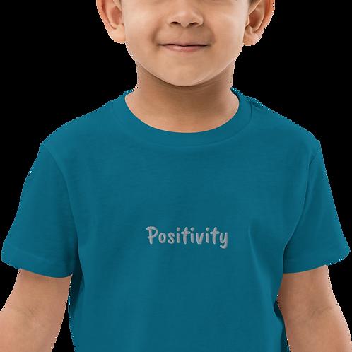 Organic Cotton KIDS Positivity Shirt (Gray)