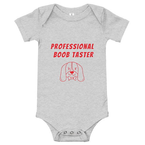 Professional Boob Taster Baby One Piece (Red)