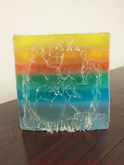 Vanilla Patchouli Rainbow Luffa Soap 4.7oz