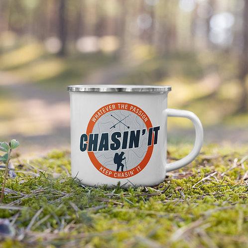 Chasin' That Coffee Enamel Mug