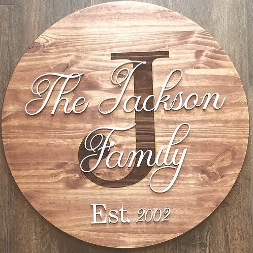 Custom Engraved Family Sign