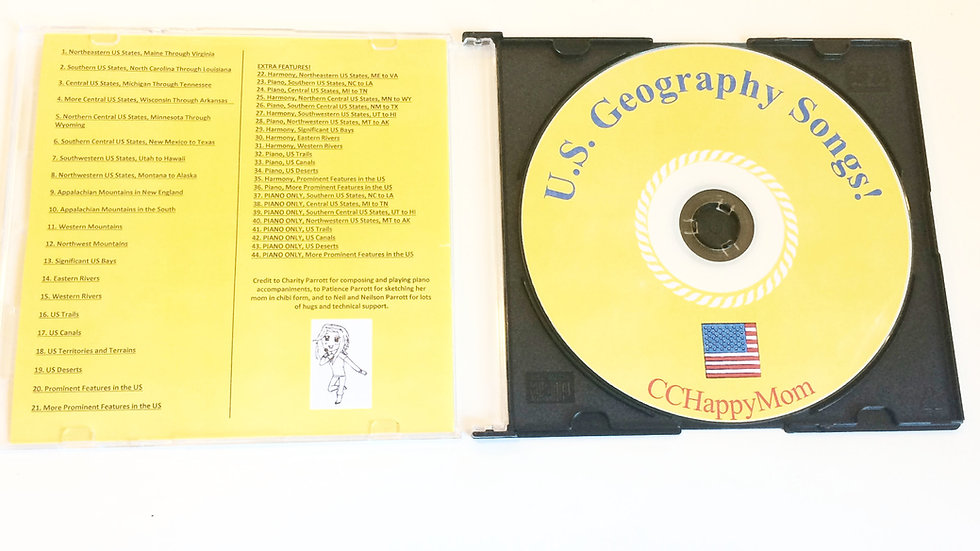 CD - US Geography Songs, 4th Edition