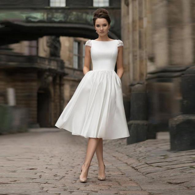 short-wedding-dresses-2020-cap-sleeve-be