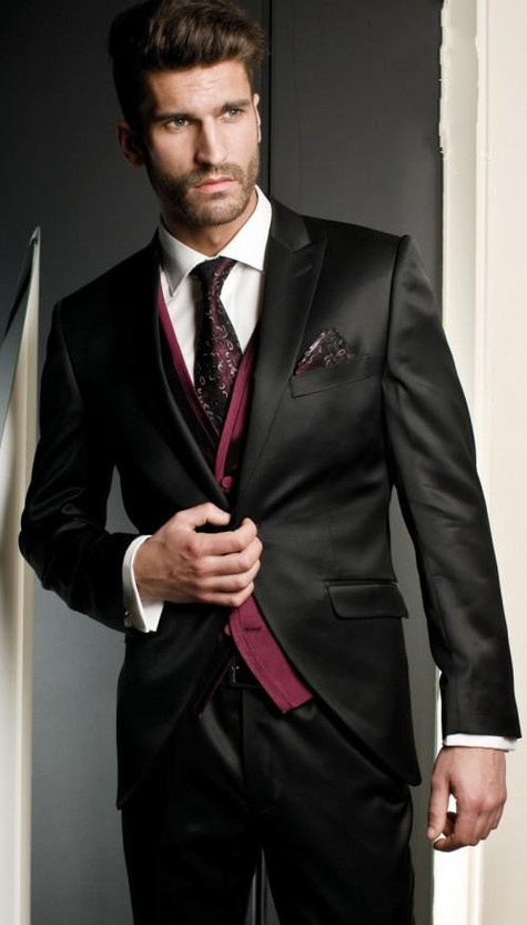 New-Arrival-Groom-Tuxedo-Black-Groomsmen