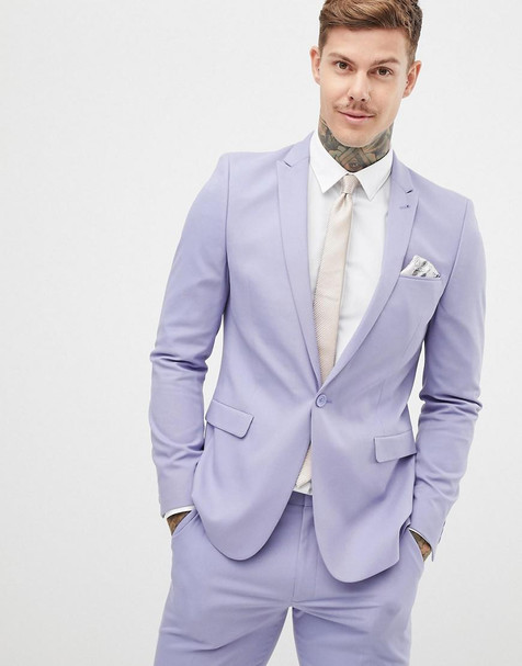 asos-purple-Skinny-Suit-Jacket-In-Lilac.