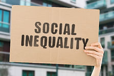 "The phrase "" Social inequality "" on a ba"