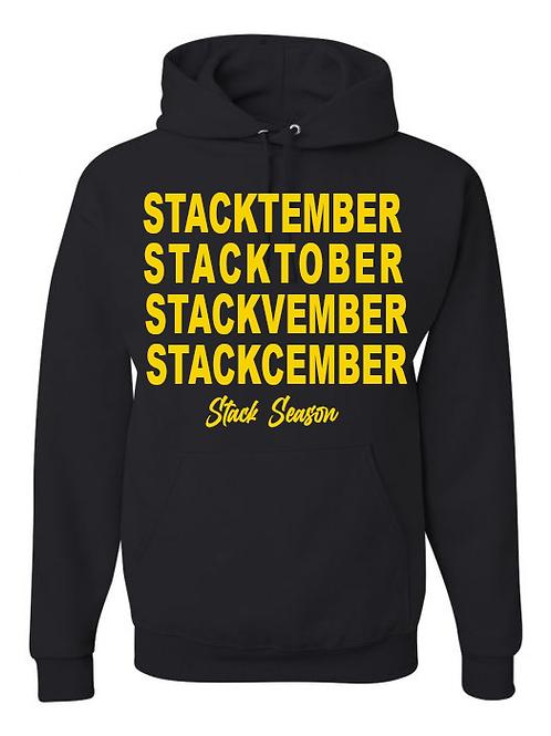 Black and Gold Stack Season Hoodie