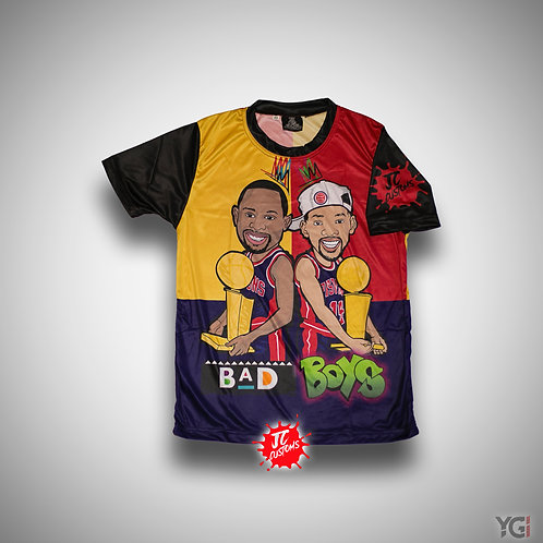 Youth Bad Boys Shirt Red/Gold